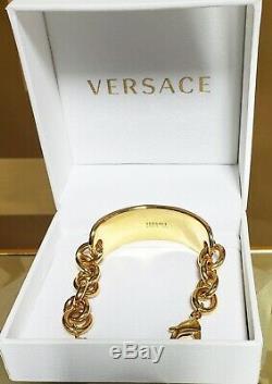 New Versace En Plaqué Or Medusa Bracelet Avec Des Cristaux Swarovski