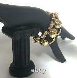New Versace Métal Plaqué Or Medusa Bracelet