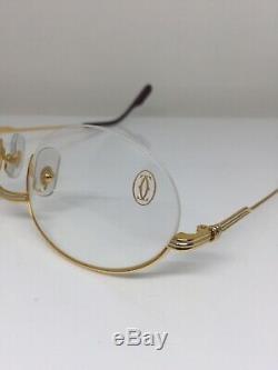 New Vintage Cartier Manhattan T8100354 Lunettes Ovale Halfrim Gold Plate France