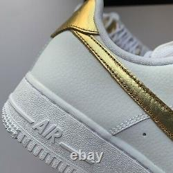 Nike Air Force 1 Low'07 Lv8 White Metallic Gold Dc2181-100 Taille Homme 8