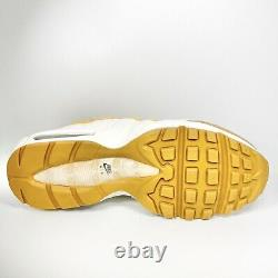 Nike Air Max 95 Essential Mens Taille 9.5 Blé Blanc Céleste Or At9865-700