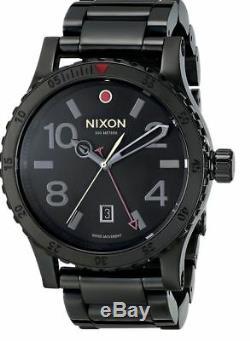 Nixon Diplomat Ss A2771883 Noir Cadran Noir Ion-plaqué Bracelet En Acier Inoxydable Hommes