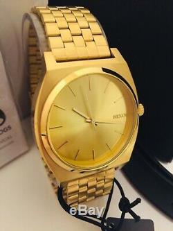 Nixon Time Teller Pack Gold Métal / Cuir Interchangeable 2 Bracelet Nwt