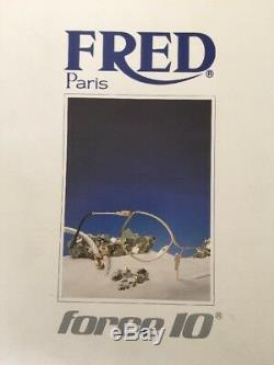 Nouveau Fred Lunettes Casquette Lunettes De Soleil Force 10 Miroir Doré Plaqué Or 22kt 56mm