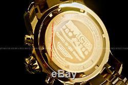 Nouveau Pro Invicta Scuba Diver Plaqué Or 18 Carats Cadran En Or Chrono S. S Bracelet Montre