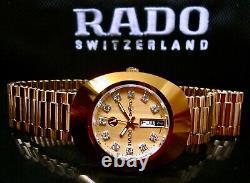 Nouveau Rado Diastar R12413493 Montre De Poignet Suisse En Or Automatique