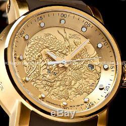 Nouveau S1 Yakuza Hommes Invicta Dragon Nh35a Automatique 24j Plaqué Or Ss Bracelet