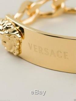Nouveau Versace En Plaqué Or De 24k Hommes Double Méduse Bracelet De Chaîne