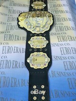 Nouvelle Ceinture Iwgp V4 Championship, Plaques De Métal Doré De Taille Adulte Et Cuir Véritable
