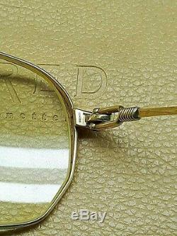Occhiali Fred America's Cup Vintage Lunettes De France Dore Rare