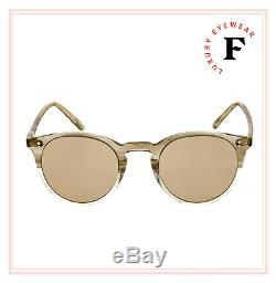 Oliver Peoples O'malley Plaqué Or Beige 18k Militaire Lunettes Ov5183 45mm