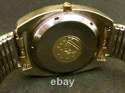 Omega Constellation Gold Plaqué Chronomètre F300hz Electronic Quartz Vintage