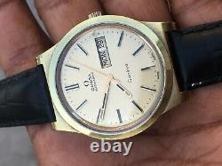 Omega Geneve Automatique Cal 1022 Gold Plaqué Mens Montre Excellent État Mint