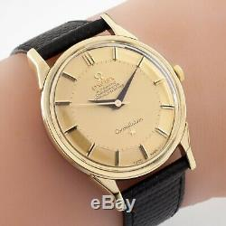Omega Plaqué Or Vintage Constellation Or Pie Pan Dial 167005