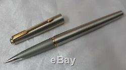 Parker 50 Falcon Mat Plaqué Or En Acier Inoxydable Stylo-plume Fine Nib