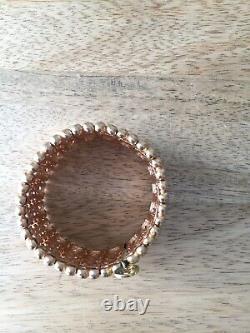 Philippe Audibert Antique Or Métal Plaque De Manchette Bracelet Nouveau