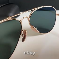 Plaqué Or Ray-ban Titane Aviateurs Lunettes De Soleil Rb8125 913658 Made In Japan
