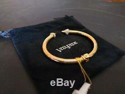 Plaqué Or Vita Fede Métal Mini Titan Cristal Bracelet Sz Hinged M