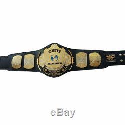 Plaqué Or Wwe Wwf Double Winged D'eagle Championship Wrestling Brass Ceinture Métal