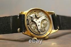 Poljot Signal Gold Plaqué Au20 Alarme 18 J Urss Montre-bracelet Pour Hommes