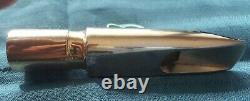 Ponzol Metal Tenor Sax Embout Buccal M1 110 Plaqué Or