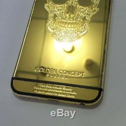 Pour Iphone 6 6s, Plus Limitée 24k Plaqué Or Boîtier Arrière Batterie Cadre De Protection