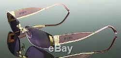 Rare $ 1200 Plaqué Or Fred Lunettes Lunettes De Soleil De Designer Marin Percée P F4 606