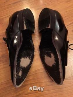 Rare Plaque En Métal Doré Céline, Noir, Richelieus, Identification, Chaussures Brogues 37, 37,5, 38