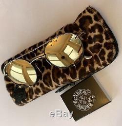 Rare Plaqué Or Noir Mat Chrome Hearts X Bella Oralgami Lunettes De Soleil 50-22-145