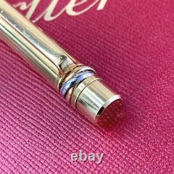 Rare Vintage Authentic Cartier Ballpoint Pen Trinity Gold Plaqué (utilisé)