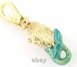 Rares T.n.-o. Juicy Couture Boxed Sirène Charm Yjru6717 Crystal New Gift