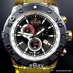Réserve Invicta Ocean Speedway Gen II Plaqué Or Swiss Steel Black Watch Nouveau