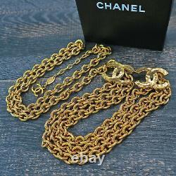 Rise-on Chanel Plaqué Or CC Logos Charm Vintage Chaîne Ceinture #135c
