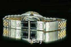 Rolex - Lunette Cannelée En Or À Cadran Diamanté Et Cadran Diamants Pour Homme Datejust, Deux Tons 36 MM