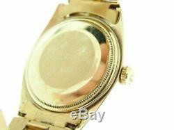 Rolex Mens 18k Solide Or Jaune Datejust Withgold Plaqué Président Style De Bande