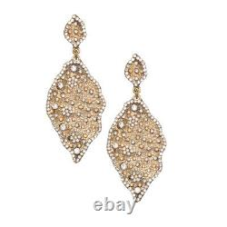 Roni Blanshay Swarovski Crystal Gold Plein Métal Paragraphe Earring Er286g