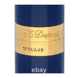 S. T. Dupont Paris Bleu Chinois Laque Or Plaqué 4.5 Mini Fountain Pen