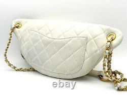 Sac Chanel Authentique Corps As0775 En Peau D'agneau Blanc X Plaqué Or 20006838ok Métal