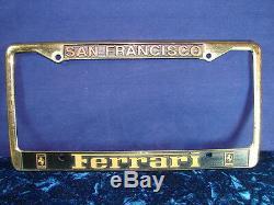 San Francisco Ferrari Dealership Gold Cadre De Plaque D'immatriculation En Métal Impressionnant
