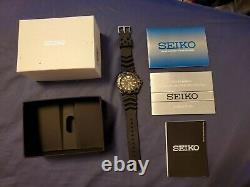 Seiko Samurai Prospex #srpb55 Gun Metal Ion Plated Case Automatic Men's Watch