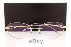 Silhouette Montures De Lunettes Caresse Collection 4487 6053 23kt Plaqué Or Sz 51