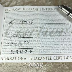 Stylo De Fontaine Cartier Diabolo Platinum Plaqué Or 18k Nib Avec Étui Et Papiers (non Utilisé)