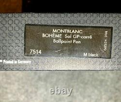 Stylo Montblanc Boheme Solitaire Plaqué Or Carre Citrin Ballpoint