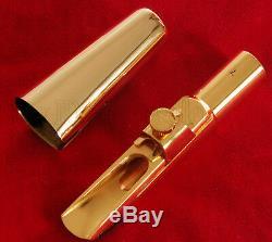 Super Plaqué Or Embouchure Métal Pour Saxophone Baryton Eb Sax Taille 7 #
