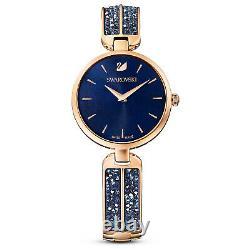 Swarovski 5519317 Dream Rock Watch, Bleu/rose-or Plaqué 30cm Rrp$499