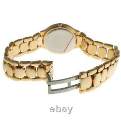 Swiss Edition Femme 14k Gold Plaqué Stainless Steel Round Watch