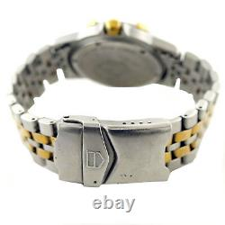 Tag Heuer 1500 Series 955.713k-2 Prof Taupe Dialle 2 Tons Gold Plaqué Or + S. S. Regarder