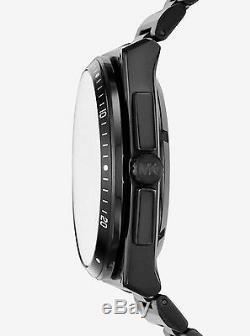 Tn-o Michael Kors Automatique Wilder Men Noir Ion-plaqué Montre 44mm Mk9023 450 $