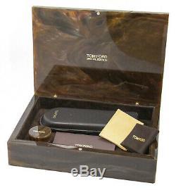 Tom Ford Lunettes Ovale Tf5257 028 Taille 50 MM D'ivoire Corne De Buffle / Plaqué Or 52