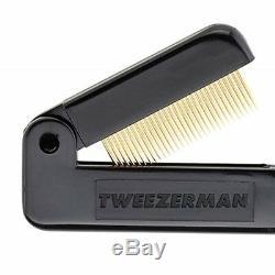 Tweezerman Folding Cils Comb Plaqué Dents De Beauté Spaced Curlers Les Dents Métalliques